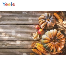 Autumn Farm Corn Pumpkin Wood Backdrop Newborn Baby Shower Kids Birthday Party Portrait Photography Background For Photo Studio
