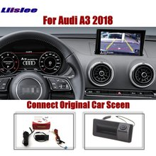 Liislee Parking Rear View Camera For Audi A3 2018 Original Car Screen Upgrade Reverse Dynamic Trajectory  Image Trunk Handle