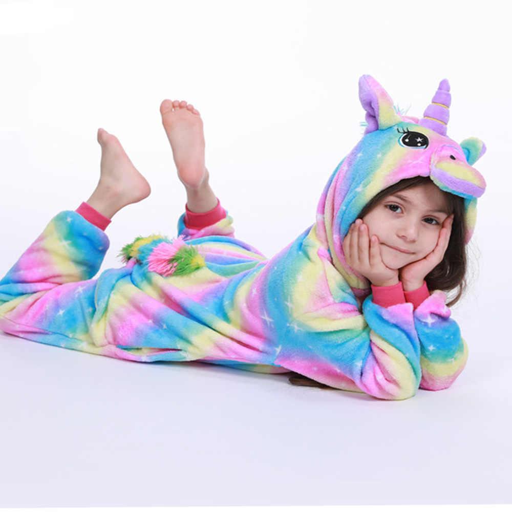 Onesie niños pijamas para niñas niños mono de invierno unicornio pijama general Animal bebé pijamas Onesies Cosplay ropa de dormir de franela
