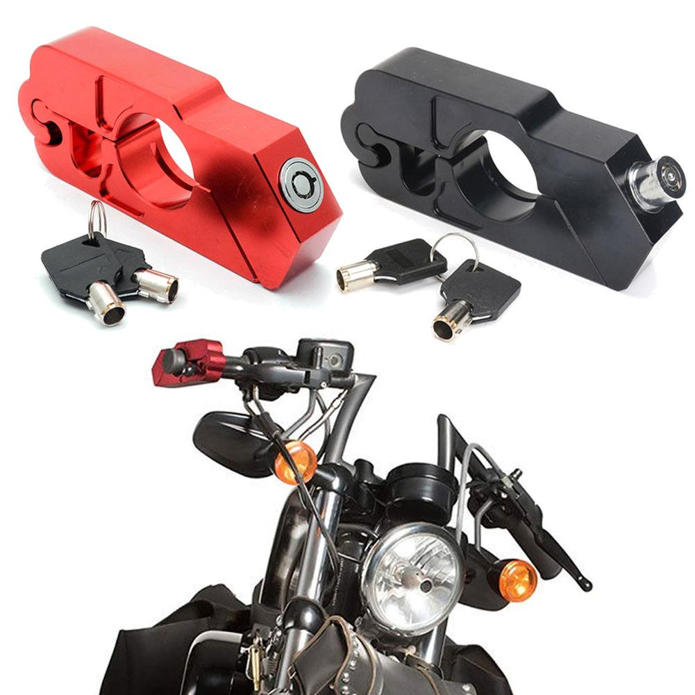 Motorcycle Security Aluminium Alloy Durable Anti-theft Handlebar Grip Brake Safety Lever Lock Motorbike Accessories