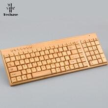 เมมเบรนแป้นพิมพ์ไม้ไผ่ไร้สายคีย์บอร์ด SEM Teclado Mecanico