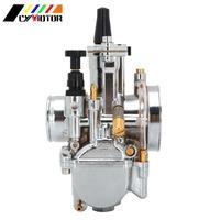 Universal Motorcycle Electroplating Carburetor Carburador Carb For Keihin PWK 28 30 32 34mm With Power Jet Fit Racing Motor