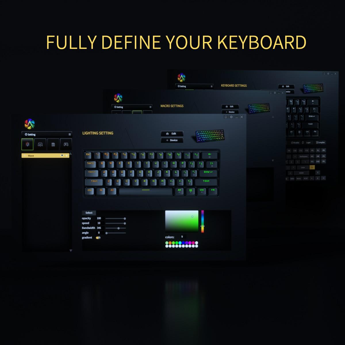 Купить с кэшбэком KEMOVE RGB Mechanical Keyboard White Gateron Hot-swappable Switch 5.1 Bluetooth USB 60% Gaming Keyboard PBT Keycaps Backlight