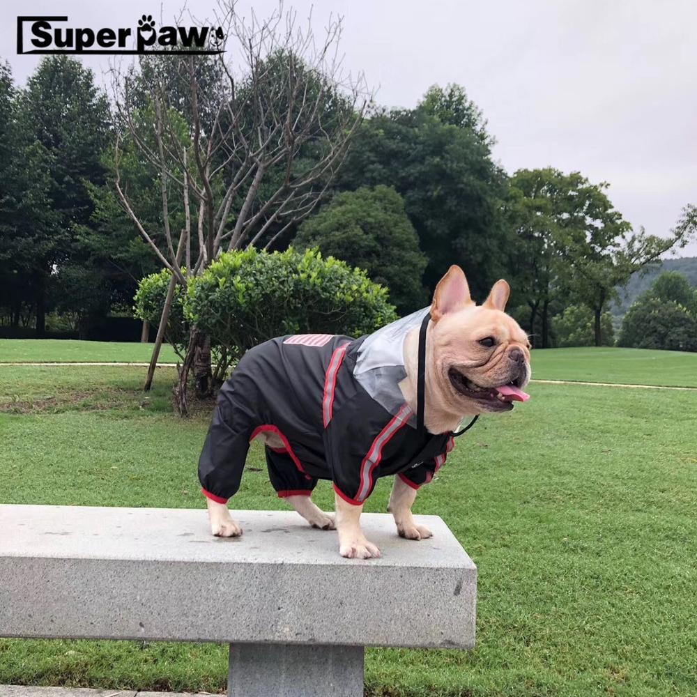 Fashion Dog Raincoat Pet Rain Coat Clothes Puppy Waterproof Jacket For Small Medium Dogs French Bulldog Dropshipping HPC05