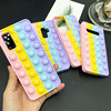 Suitable for Samsung S10 S20 Plus S9 Note 10 s20 S21 A51 A12 A11 mobile phone shell toy 3D bubble protective cover