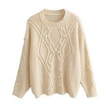 Женский джемпер ручной работы Модный пуловер карамельных цветов
