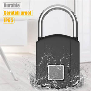 Padlocks Smart Keyless Biometric Thumbprint-Door Quick-Unlock Usb-Charging Rechargeable