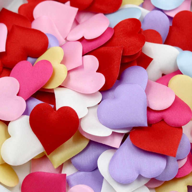 100Pcs 2cm Rosa Em Forma de Coração Esponja Vermelha Jogando Confete Pétalas Para O Casamento Decoração Festa de Casamento Casa Decoração DIY favores