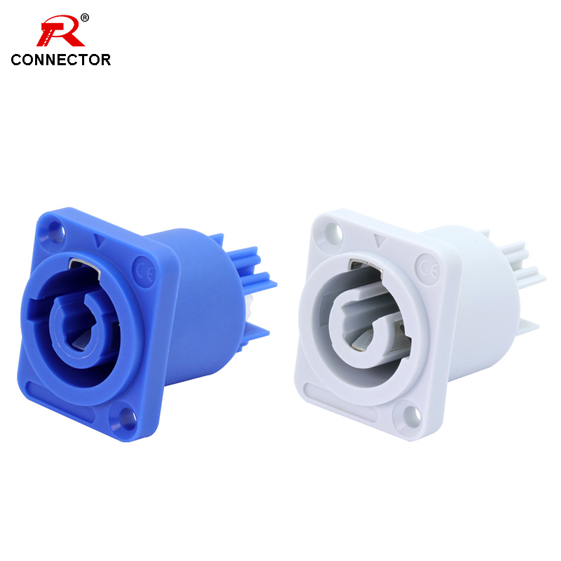8pcs Powercon Chassis Connector,NAC3MPA-1(Input)&NAC3MPB-1(Output), RU Warehouse, 3 Pin, 3/16'' Flat Tab Terminals Female Socket