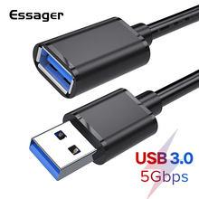 Essager câble d'extension USB USB 3.0 câble pour TV PS4 Xbox SSD 5GB USB3.0 cordon de données d'extension mâle à femelle câble d'extension USB