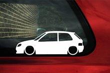 Наклейка на силуэт автомобиля-для Citroen Saxo (фаза 2) vts,vtr, Стайлинг автомобиля