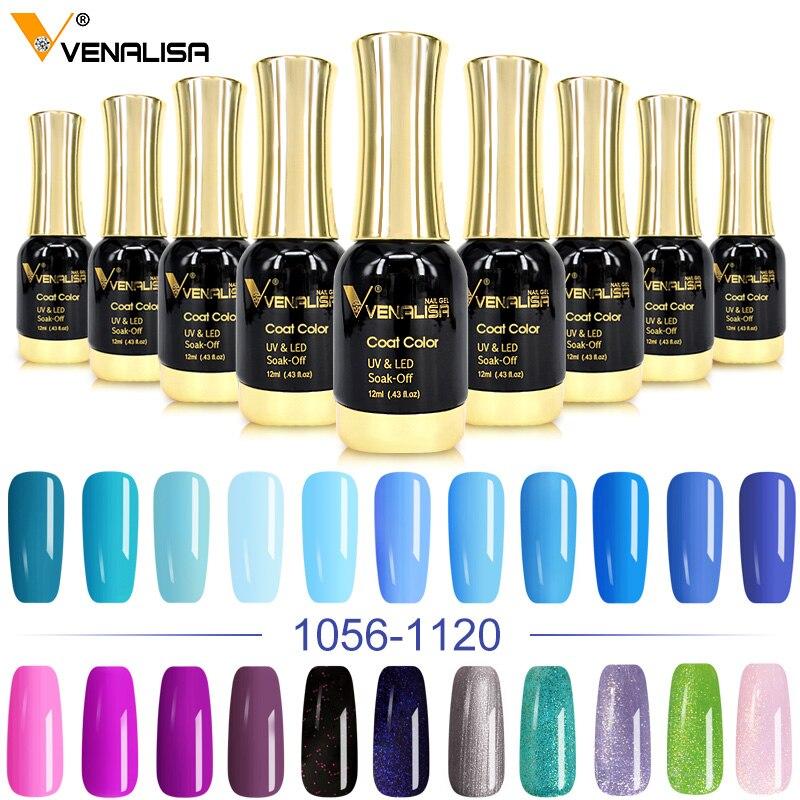 CANNI Gel Varnish 12ml Solid Starry Color Venalisa Soak Off UV LED Lamp Nail Art Salon High Quality Painting Gel Nail Polishes