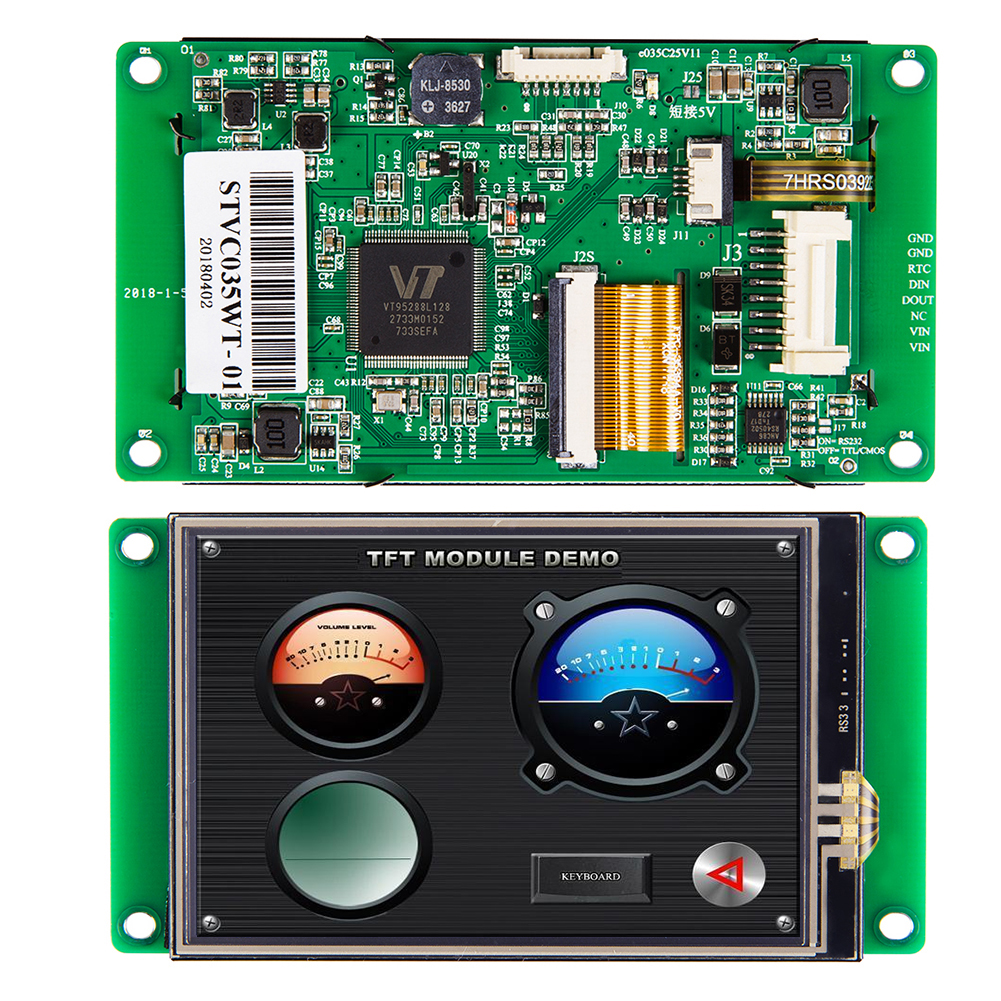 STONE 3.5 Inch TFT LCD Display Module With RS232 Interface  For Equipment Use