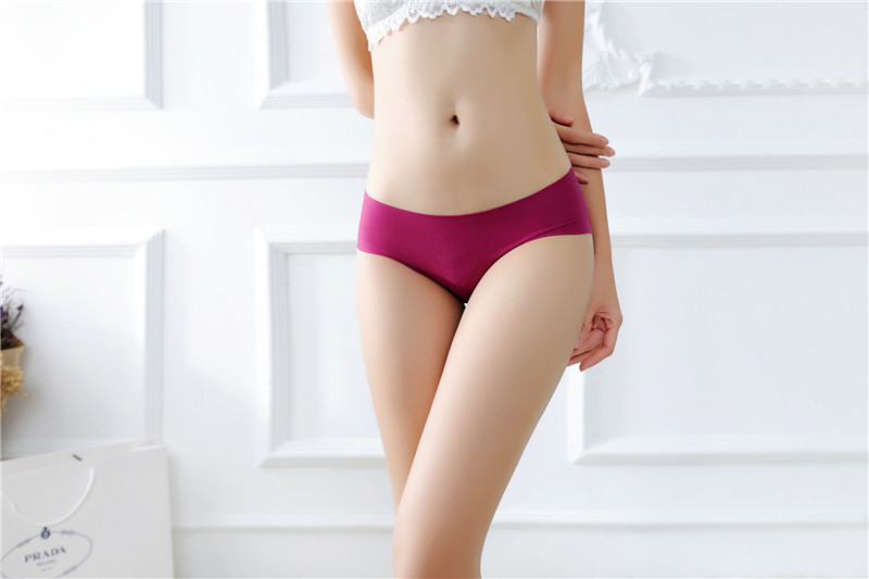 Women's Low Waist Sexy Seamless Breathable Panties 8