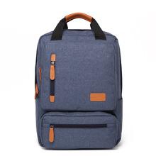 New male backpack canvas school backpacks fashion backpack men #8217 s travel bags 14Inch Laptop backpacks cheap Faisean Embossing Unisex Softback 20-35 Litre Interior Slot Pocket Soft Handle NONE zipper Open Pocket Arcuate Shoulder Strap