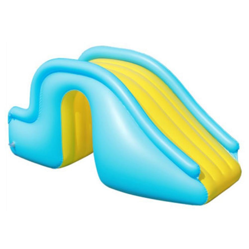 Inflatable Waterslide Wider Steps Joyful Swimming Pool Supplies Kids Water Play Recreation Facility