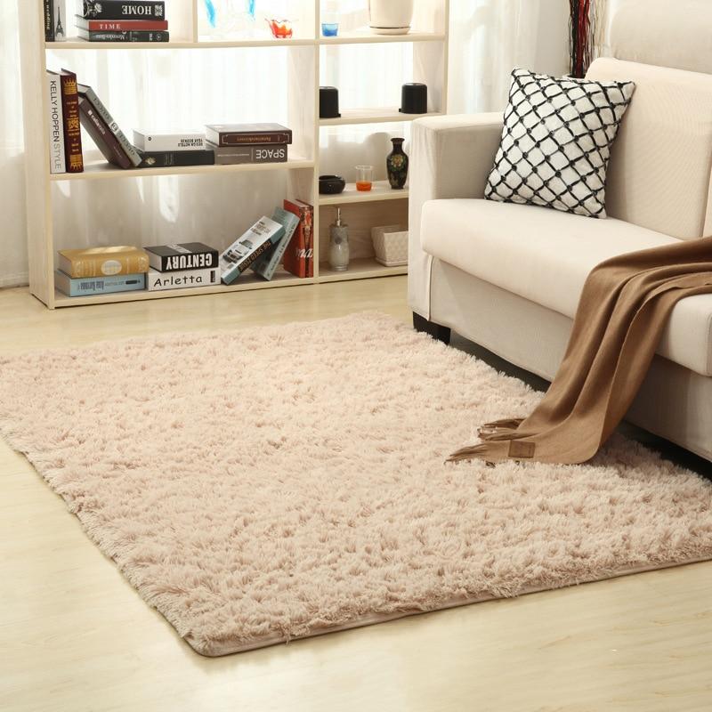 Shaggy Carpet Super Soft Indoor Modern Rugs For Living Room Home Warm Plush Floor Rugs Fluffy Mats Kids Room Rug Living Room Mat