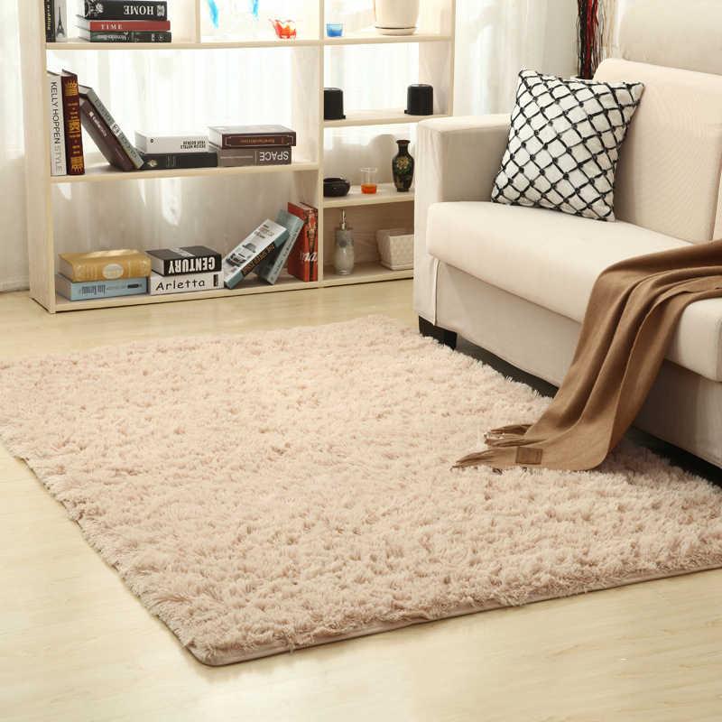 Shaggy Teppich Super Weiche Innen Moderne Teppiche Für Wohnzimmer Hause Warme Plüsch Boden Teppiche Flauschigen Matten Kinderzimmer Teppich wohnzimmer Matte