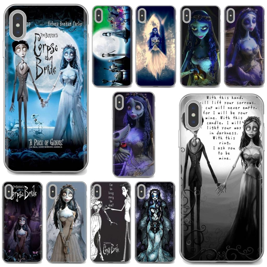 Soft Cover Bag For iPhone iPod Touch 11 12 Pro 4 4S 5 5S SE 5C 6 6S 7 8 X XR XS Plus Max 2020 Zombie Corpse Bride families Print