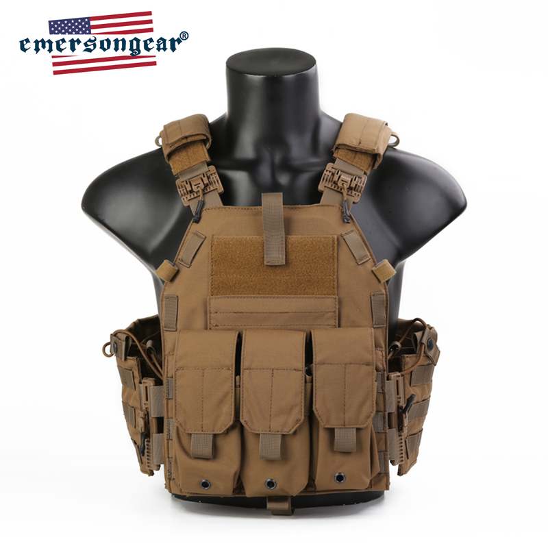 Emersongear Blue Label 094K Tactical Vest Quick Release Plate Carrier Molle Body Armor Swat Harness Airsoft Army Military Gear