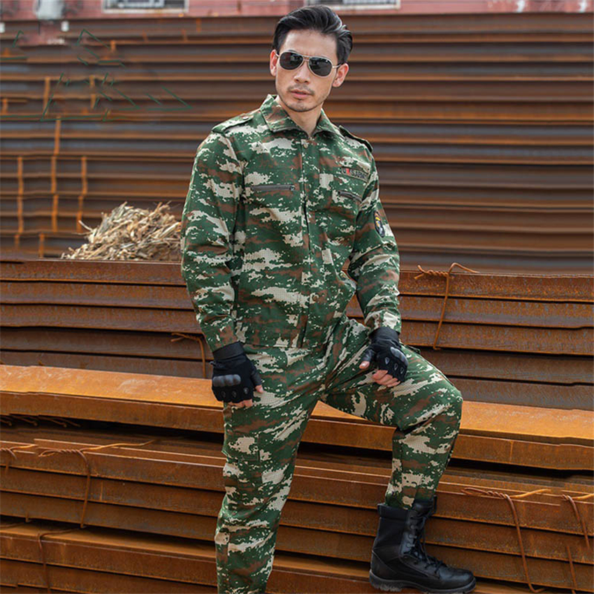 Army Military Uniform Men 10color Camouflage Suit Tactical Clothing Special Forces Combat Jacket Unisex Soldier Disguise Airsoft image