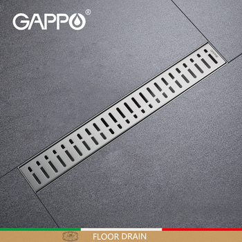 GAPPO Stainless Drains Bathtub Plug Anti-odor Drains Recgangle Linear Waste Drainer Bathroom Shower Floor Drain Cover G85007-3