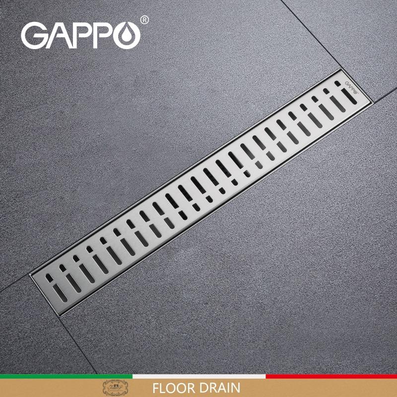 GAPPO nierdzewne odpływy zatyczka do wanny antyzapachowe odpływy Recgangle liniowy odpływ łazienka podłoga prysznica pokrywa odpływu G85007-3