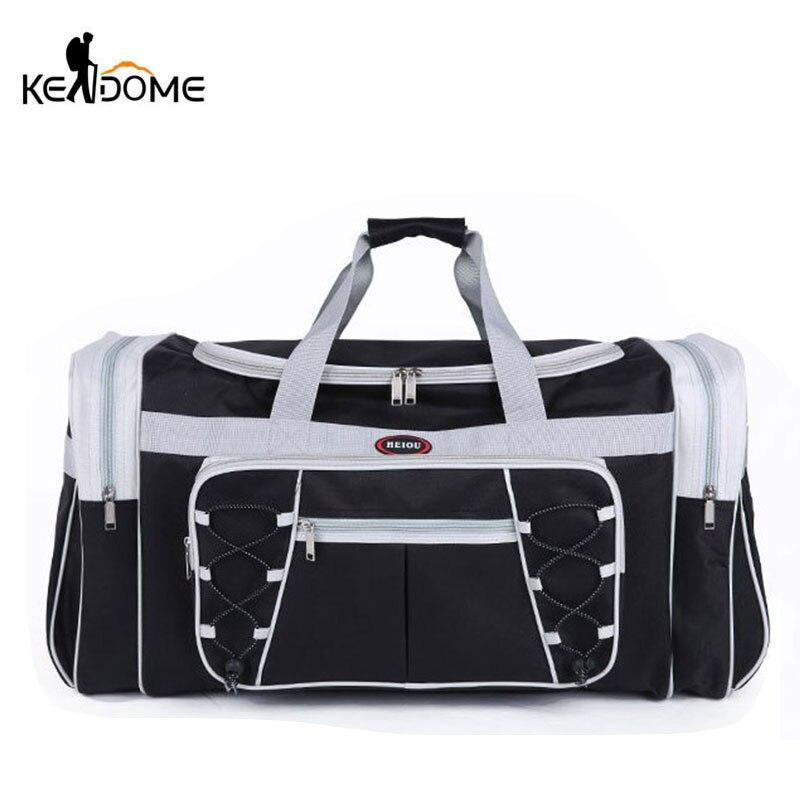 Imperméable à l'eau en Nylon bagages sacs De Sport en plein air Sac grand voyage Tas pour femmes hommes voyage polochon Sac De Sport sacs à main Sac XA15WD