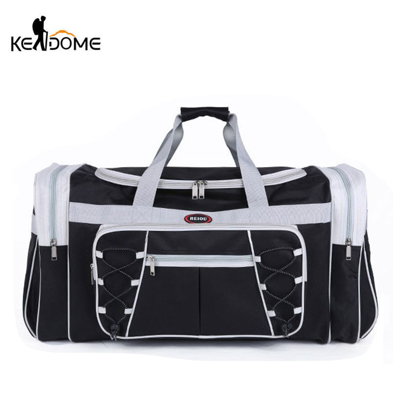 Waterproof Nylon Luggage Gym Bags Outdoor Bag Large Traveling Tas For Women Men Travel Dufflel Sac De Sport Handbags Sack XA15WD