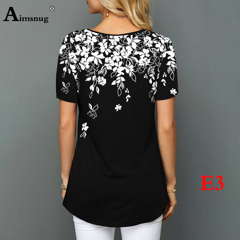 Hf5a9c2c6a42741dea6a610fb28532224f - Plus size 4xl 5xl Women Fashion Print Tops Round Neck Short Sleeve Boho Tee shirts New Summer Female Casual Loose T-shirt