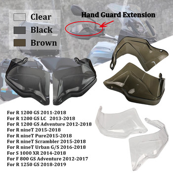 For BMW R1250GS/ADV LC R1200GS LC F800GS Adventure S1000XR 2013-2019 Handguard Hand shield Guard Protector Windshield Smoke