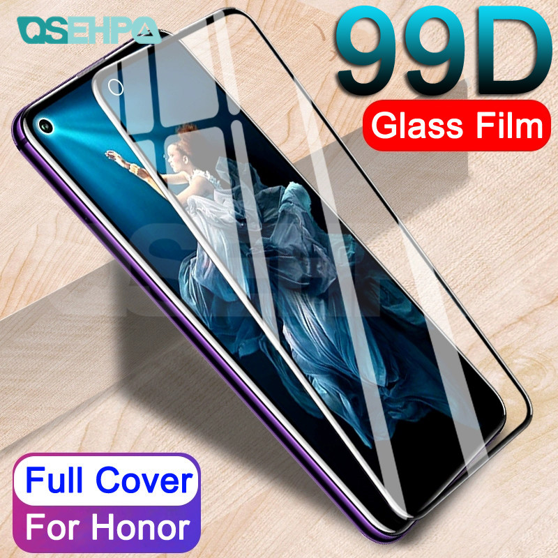 99D Protective Glass On The For Huawei Honor 9 10 Lite 9X V10 V9 Play Honor 20 8 Lite V20 Tempered Screen Protector Glass Film