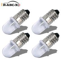 RUIANDSION 4 Pcs E10 AC 220V-230V Led Bulb Warning Lights 6000K 4300K Warm White Machine Tool Lighting Work Lamps 150Lm