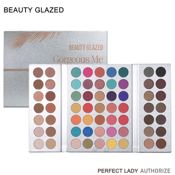 BEAUTY GLAZED 63 Colors Eye Shadow Pallete Long Lasting Matte Shimmer Glitter Pigment Easy to Wear Eyes Makeup Charming Palette 18 colors beauty glazed pro eye shadow long lasting makeup palette shimmer matte pigment glitter eyeshadow pallete cosmetic tool