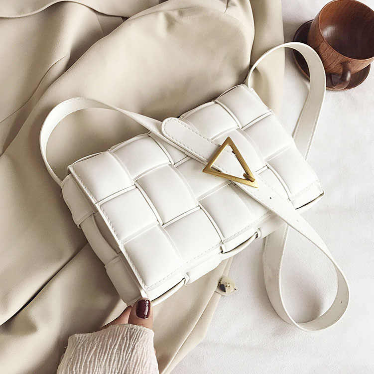 Small Weave FLAP กระเป๋าสำหรับสุภาพสตรี 2020 ใหม่คุณภาพสูงแฟชั่น PU หนังไหล่ Crossbody กระเป๋าฤดูร้อนกระเป๋าถือ