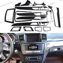 Lsrtw2017 ألياف الكربون سيارة مركز وحدة التحكم والعتاد باب دخول بلوح صلب مقبض لوحة القيادة الكسوة لمرسيدس بنز ML GL W166 X166 2012-2016