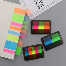 Boxed Sketchbook Notepad Memo-Pad Fluorescence-Sticky-Notes Planner School-Supply Candy-Color