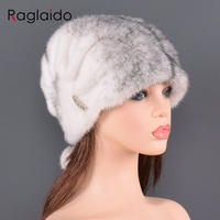 Whole Real Mink Fur Hats for Women's Luxury Fashion Brand High Quality Cap New Arrival keep Warm In Russian Winter lady Fur Hat