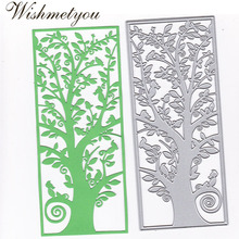 WISHMETYOU Big Tree Frame Scrapbook DIY Metal Cutting Embossing Dies Album Decoration Stamps And Cards Small Gift