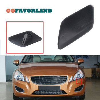 Car Accessories Left Front Bumper Headlight Washer Jet Nozzle Cover Cap Unpainted 39802681 For Volvo S60 2011 2012 2013 image