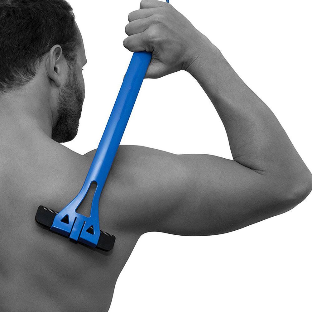 HobbyLane Men Back Hair Manual Shaver Removal Twin Blade Waterproof Reciprocating Cordless Razor Washable Dual Blade 1pcs