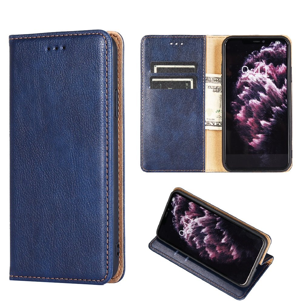 Leather Wallet Flip <font><b>Phone</b></font> Protective Case for <font><b>OPPO</b></font> <font><b>Realme</b></font> X50 Reno <font><b>3</b></font> Pro Find X2 6 Shockproof Cover with Magnet Card Slot Holder image