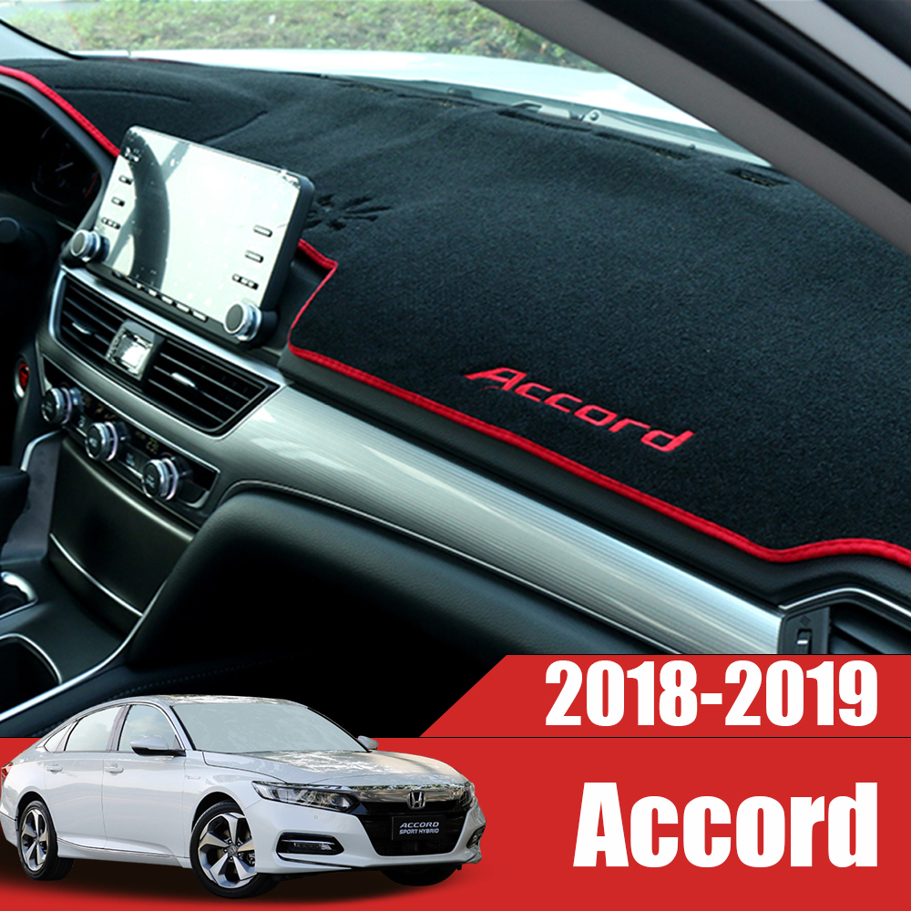 Car Dashboard Covers Mat Avoid Light Pad Instrument Platform Desk Cushion Carpets For <font><b>Honda</b></font> <font><b>Accord</b></font> 10th 10 2018 <font><b>2019</b></font> Accessory image