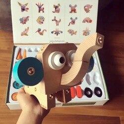 Wooden Variety cute pet series puzzle children DIY spell insert construction animal transporte rmodel set