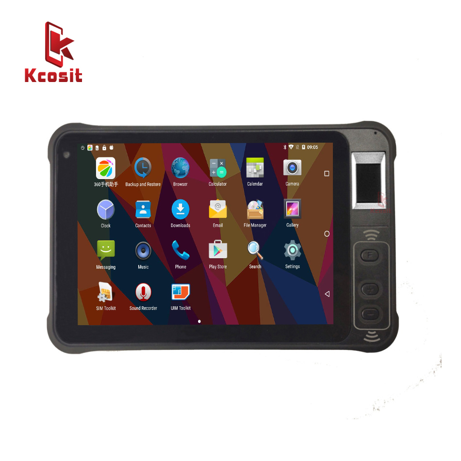 Original Kcosit KT75 IP67 Rugged Waterproof 7 Inch Tablet PC Android 8.1 Phablet Fingerprint Reader Kids Shockproof GPS 4G LTE