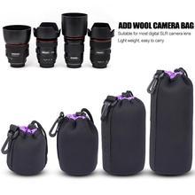 Camera-Elements Lens-Pouch Neoprene Protective-Bag Shockproof Soft for Drawstring Handheld