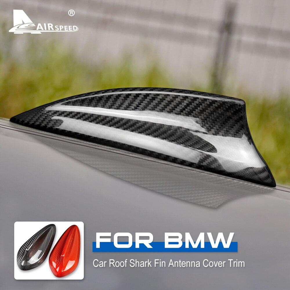 De fibra de carbono alerón con forma de aleta de tiburón para cubierta BMW F20 F21 F45 F46 F31 F34 G31 G32 F48 F39 G01 G02 F15 F85 G05 F16 F86 G07 Accesorios