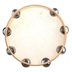 "10"" Musical Tambourine Tamborine Drum Round Percussion Gift for KTV Party"