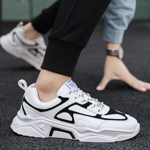 Image 5 - Mężczyźni buty w stylu casual Tenis oddychające Krasovki zasznurować luksusowe mody ulicy Trend świetlne tenisówki męskie Chaussure Homme Zapatillas 46