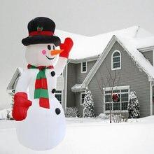 Bonhomme de neige gonflable géant de 2.4M, jouet gonflable, décoration de noël pour hôtels, lieux de divertissement et de vacances